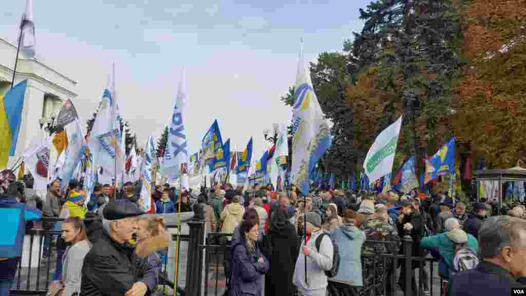 Kiyevda korrupsiyaga qarshi namoyish