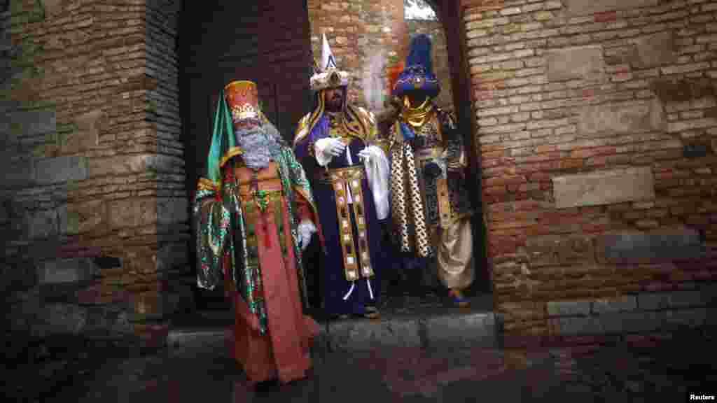 Los Reyes Magos en Málaga, España.
