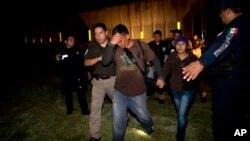 Detención de inmigrantes centroamericanos en México en 2014: este año las capturas continúan.