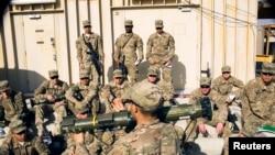 资料照片:美军官兵在阿富汗进行军事训练(2014年12月29日)