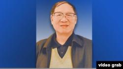 美国之音卫视介绍对胡德华的专访时所用的画面(2016年4月11日)