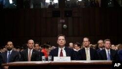Cựu Giám đốc Cơ quan Điều tra Liên bang (FBI) James Comey tại phiên điều trần ngày 8/6/2017.