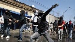 درگيری جوانان و پليس در روز بزرگداشت آلنده در شيلی