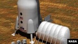 مریخ پر تصوراتی انسانی کالونی۔ ناسا