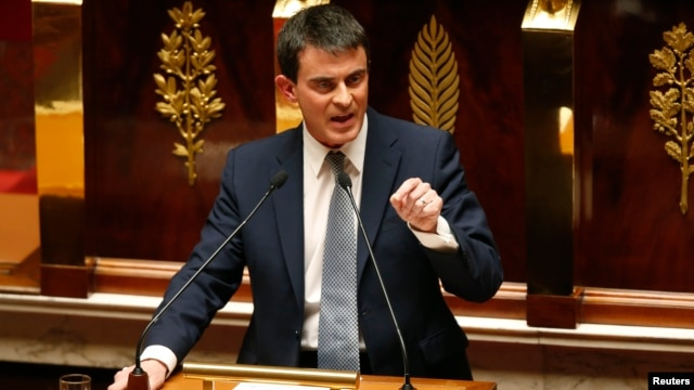 French Prime Minister Manuel Valls delivers a general policy speech at the National Assembly in Paris, April 8, 2014. New Prime Minister Manuel Valls will test France's political commitment to reform on Tuesday in a confidence vote that should allow the S