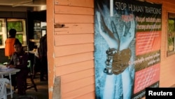 A Thai police immigration post in the port city of Ranong in southern Thailand Oct. 30, 2013.