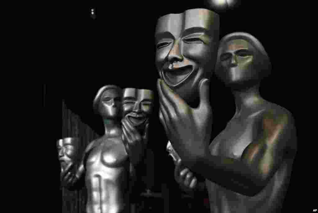 រូបពានសម្រាប់តារាសម្តែងក្នុងកម្មវិធីប្រគល់ពានរង្វាន់Screen Actors Guild ត្រូវបានគេថតនៅឯសាលនៅទីក្រុងLos Angeles។