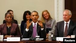 奥巴马总统9月18日在华盛顿举行的企业会议上