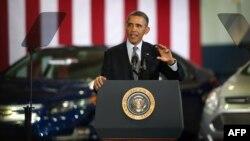 """Predsednik Obama tokom posete leboratoriji """"Argon"""""""