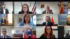 Участники видеоконференции