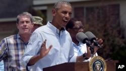 Barack Obama, prometió ayuda federal hasta que Luisiana se recupere totalmente de las graves inundaciones que han causado al menos 13 muertos.