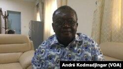 Dieudonné Djonabaille président de la HAMA, au Tchad, le 13 février 2019. (VOA/André Kodmadjingar)