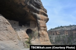 Visitors to the Gila Cliff Dwellings in the middle of the Gila forest in New Mexico can visit a half dozen dwellings that were carved out of the natural caves by the region's indigenous peoples.