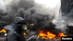 Neredi u Kijevu gde su se pristalice evropskih integracija sukobile sa specijalnom policijom, 23. januara 2014.