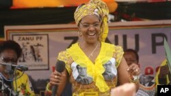 Zimbabwe First Lady Grace Mugabe.
