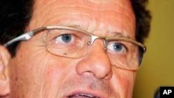 Huấn luyện viên Fabio Capello (ảnh tư liệu)