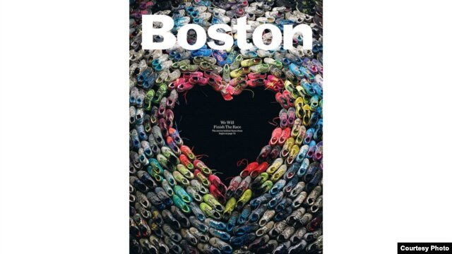 The cover of the May issue of Boston Magazine