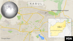 Kabul airport map.
