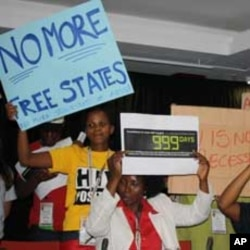 Activists protest against ARV shortages in South Africa's Free State province