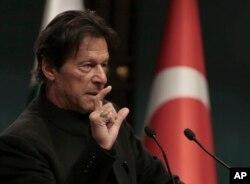 FILE - Pakistan's Prime Minister Imran Khan.