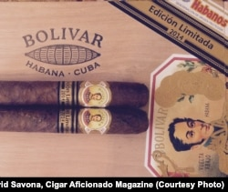 Cigars at a cigar store in Havana, Cuba.