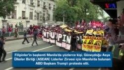 Trump Protestocularına Tazyikli Su