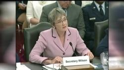 威尔逊称太空冲突难以避免原声视频 (美国国会视频)