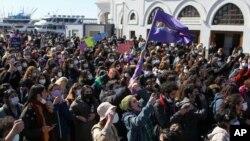 27 Mart 2021 - İstanbul'da Türkiye'nin İstanbul Sözleşmesi'nden geri çekilmesi kararı protesto edildi