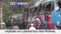 VOA60 World- Bus Bombing Kills 15 in Pakistan