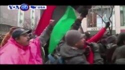 Người biểu tình vụ Freddie Gray đổ ra đường ở thành phố Baltimore (VOA60)
