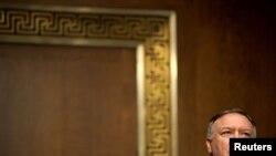 El secretario de estado Mike Pompeo testifica en una audiencia ante el comité de relaciones exteriores del senado de Estados Unidos, el 30 de julio de 2020.