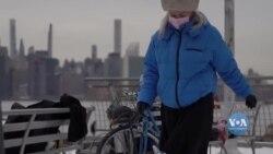 Балет на снігу - як артисти у Нью-Йорку проводять репетиції під час КОВІД. Відео