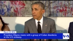 Obama Meets With Dissidents at US Embassy in Havana