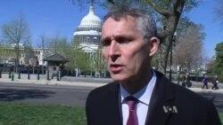 NATO baş katibi Cens Stoltenberq Amerikanın Səsinə danışır