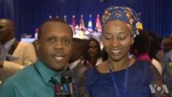 Sunday Shomari azungumza na Mshiriki wa Mkutano wa YALI Fransisca Said Masika kutoka Tanzania