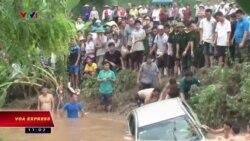 14 người chết và mất tích vì mưa lũ tại Việt Nam