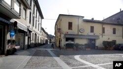 意大利小镇科多尼奥空旷的街道(AP 2月22日)