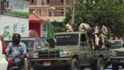 Patrouilles des paramilitaires RSF à Khartoum