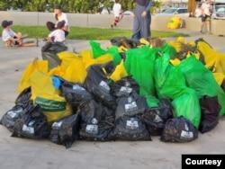 Kantung sampah bioplastik dari tepung singkong. (Foto: PT Saesha Bunga Indo)