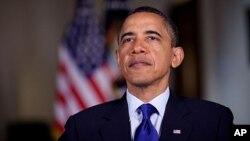 美國總統奧巴馬五月十三日於白宮作每週報告