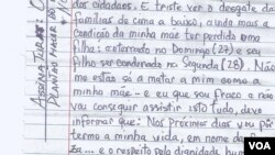 Carta do activista angolano Osvaldo Caholo