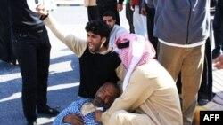 Người biểu tình bị thương tại Diraz, ngày 14/2/2011