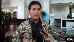 Ketua umum Asosiasi Pengusaha Indonesia, Haryadi Sukamdani. (VOA/Iris Gera)