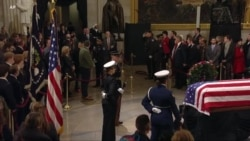 Sons of Former U.S. President George H.W. Bush Pay Last Respects