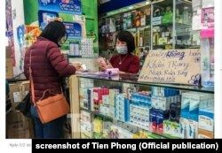 Các nhà thuốc ở khu Hapulico, Hà Nội, ngừng bán khẩu trang hôm 3/2/2020