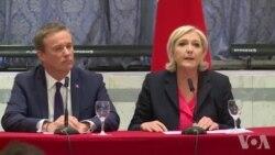 Le Pen annonce vouloir comme Premier ministre Dupont-Aignan (vidéo)