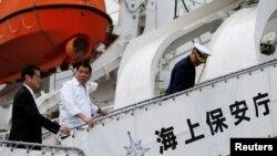 菲律賓總統杜特爾特2016年11月參觀日本海保廳艦船(路透社)