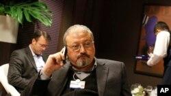 Jamal Khashoggi, journaliste saoudien, à Davos, Suisse, le 29 janvier 2011.