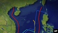 各國聲稱的領海與領土主權界線