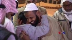 關塔那摩灣釋放的四名恐怖嫌疑人到達沙特阿拉伯